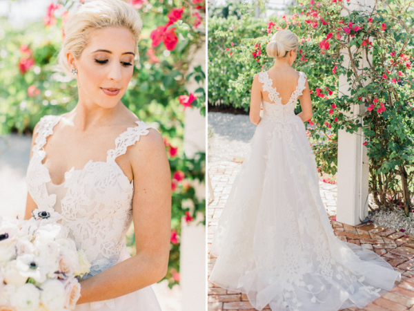 Beautiful outdoor wedding at Naples Botanical Garden gorgeous wedding dress with lace straps.png
