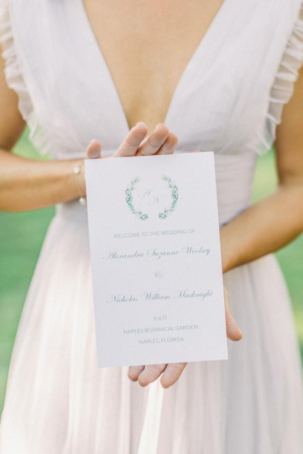 Real Wedding at Naples Botanical Garden Tropical Wedding Ideas Wedding Program by Prim Pretty Prints.png