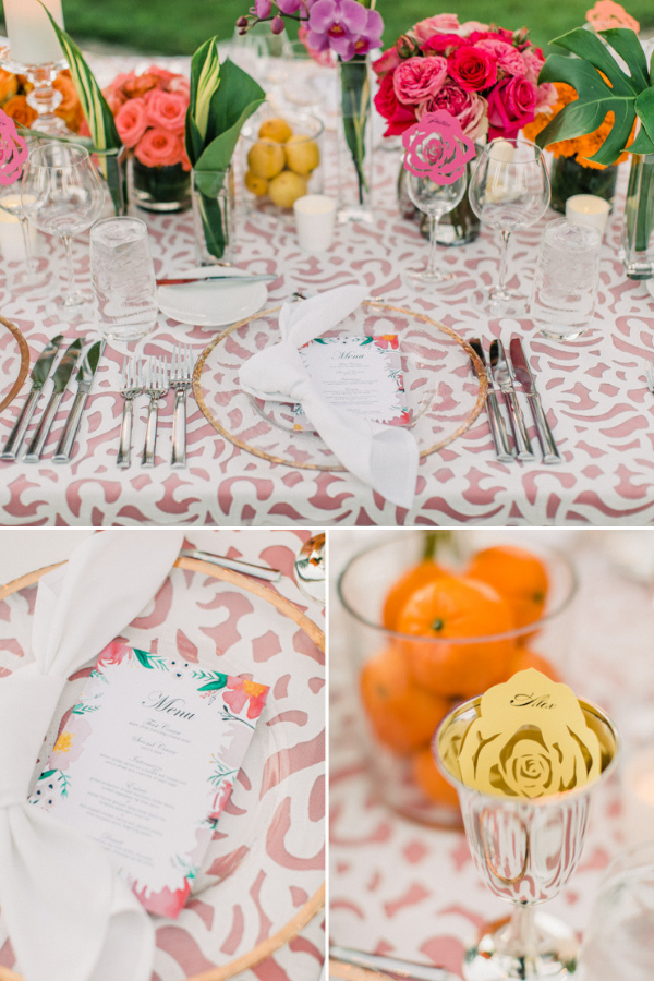Real Wedding at Naples Botanical Garden Tropical Wedding Ideas bold bright florals tablescape-3.png