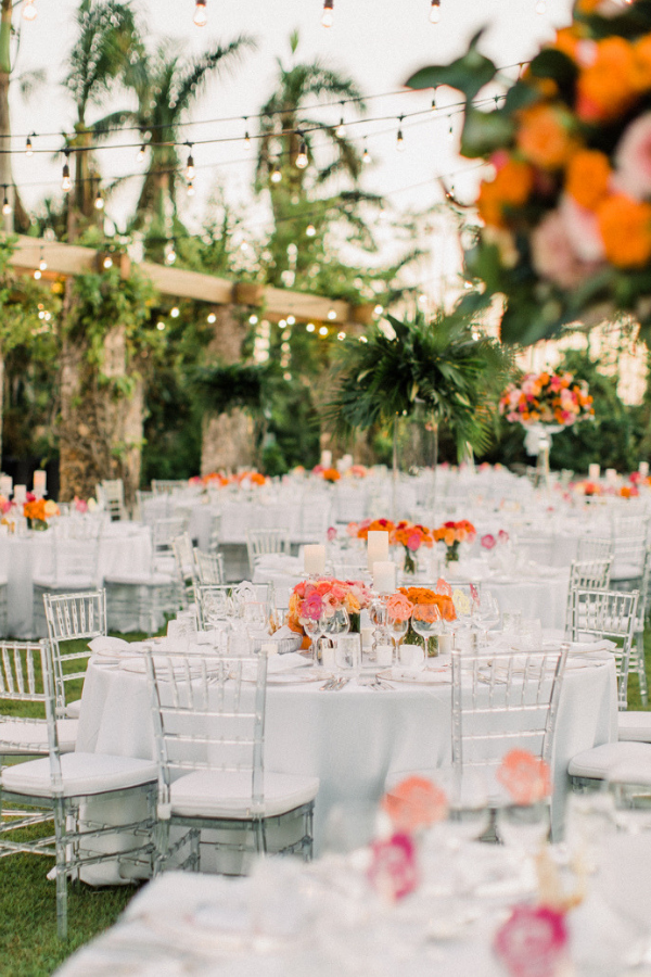 Real Wedding at Naples Botanical Garden Tropical Wedding Ideas bold bright florals tablescape-2.png