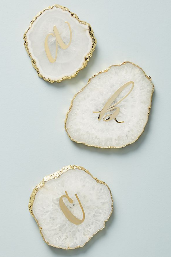Monogram Agate Coaster, $16.