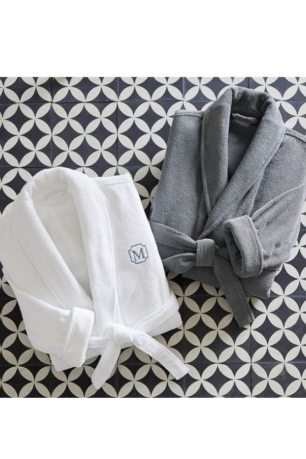 Monogrammed Organic Cotton Robes, $118.