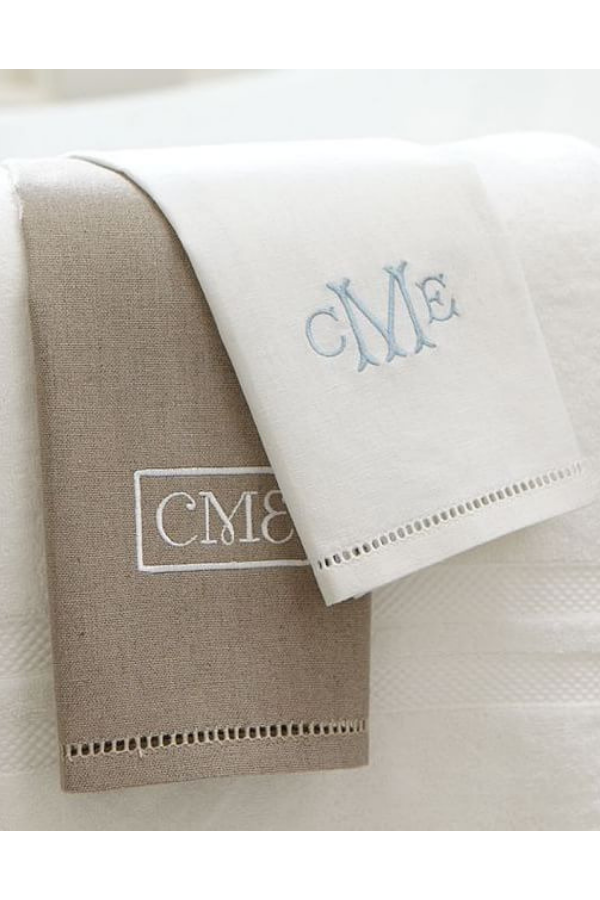Monogrammed Guest Towels, $19 for Set of 2.