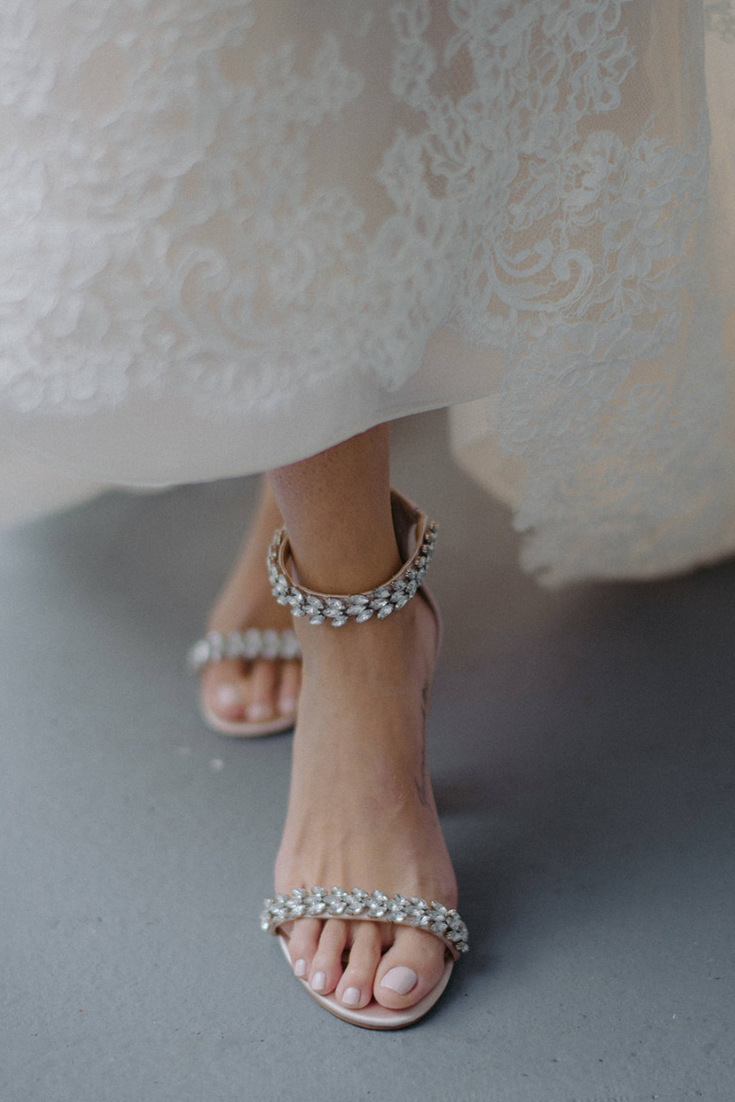 Wedding Shoes with Rhinestones and Ankle Strap with Lace Wedding Dress.png