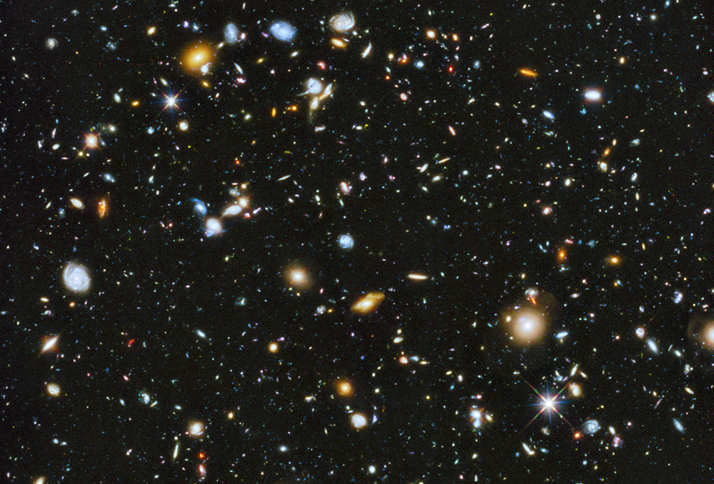 Hubble Ultra Deep Field 2014  Credit: NASA, ESA, H. Teplitz and M. Rafelski (IPAC/Caltech), A. Koekemoer (STScI), R. Windhorst (Arizona State University), and Z. Levay (STScI)