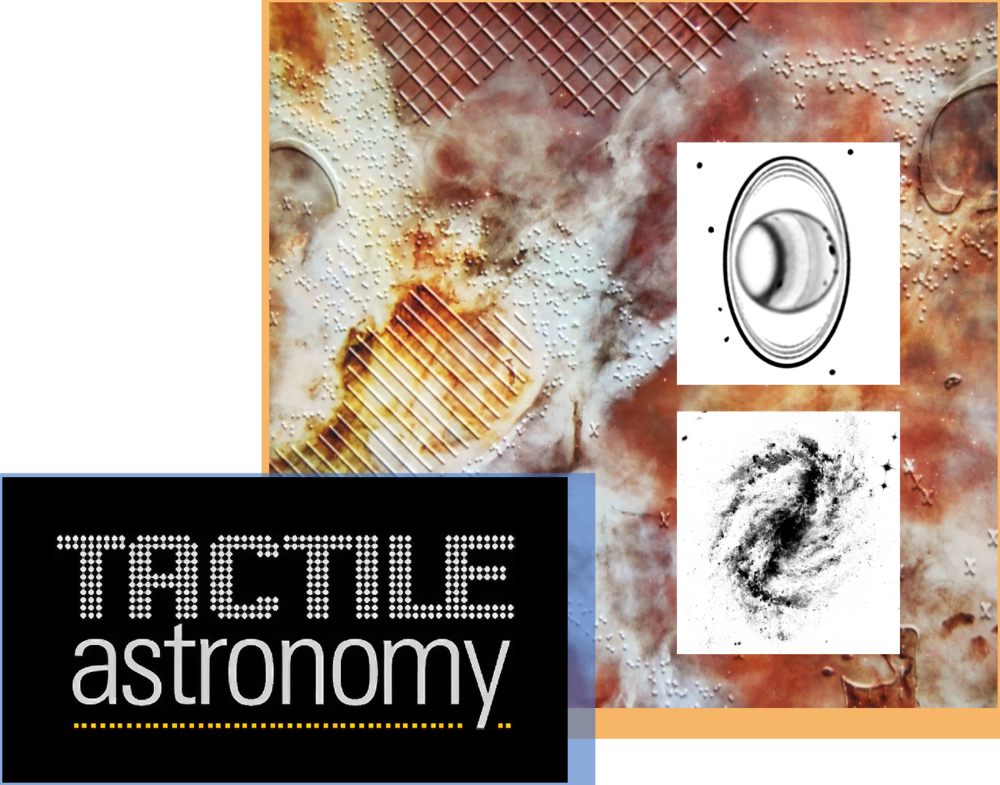 Tactile Astronomy - Bring the wonders of the universe to everyone, regardless of their visual ability. A library of many Hubble images have been designed to be downloaded and printed on microcapsule paper, then