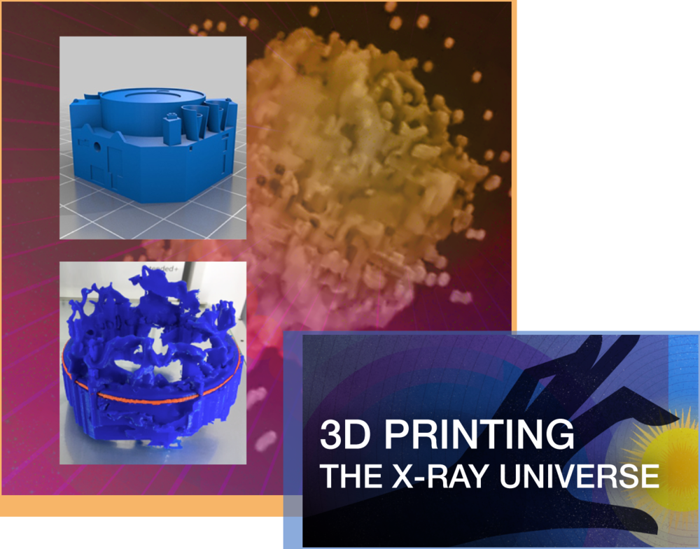3D Printing the X-ray Universe - Despite our limited abilities to travel to distant objects in outer space, astronomers, computer scientists, and others are developing techniques that nudge astronomy visualization forward from two-dimensional images to images that include time, and also, the third dimension in space. 3D modeling objects in our universe offers a unique tool to understand scientific data. And while interacting with 3D data on a computer screen can be powerful, the ability to create a physical manifestation of the model—through 3D printing—can take things even farther.Audience: All LearnersWebsite: 3D Printing the X-ray Universe project