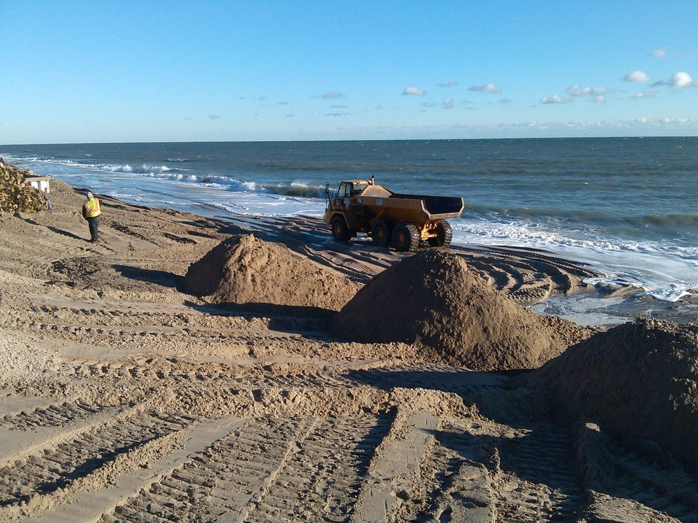 We were promised beach quality sand last time.  We know we got dirt instead.