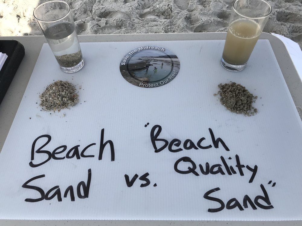 Calling this material 'beach quality sand' is a joke.