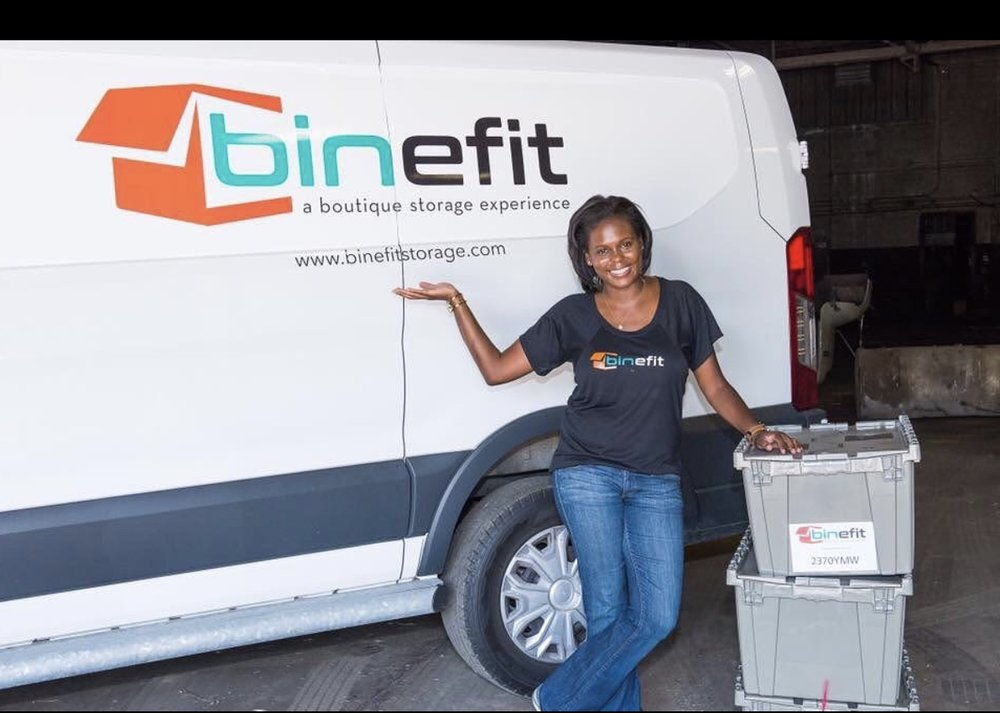Entrepreneur Antonia Dillon of Binefit Storage, a boutique storage experience in Detroit, Michigan
