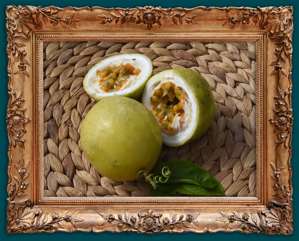 One of our mouth watering green passion fruits