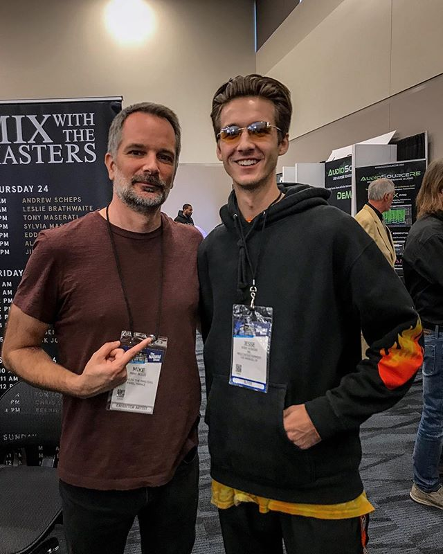 NAMM19 is in the books!🎸Appreciate the insight from one of music's finest engineers @masteredbymike. This weekend was nothin but great energy and good people! Met a whole bunch of dope creatives this weekend and I'm feelin inspired. We gonna get this work in '19!