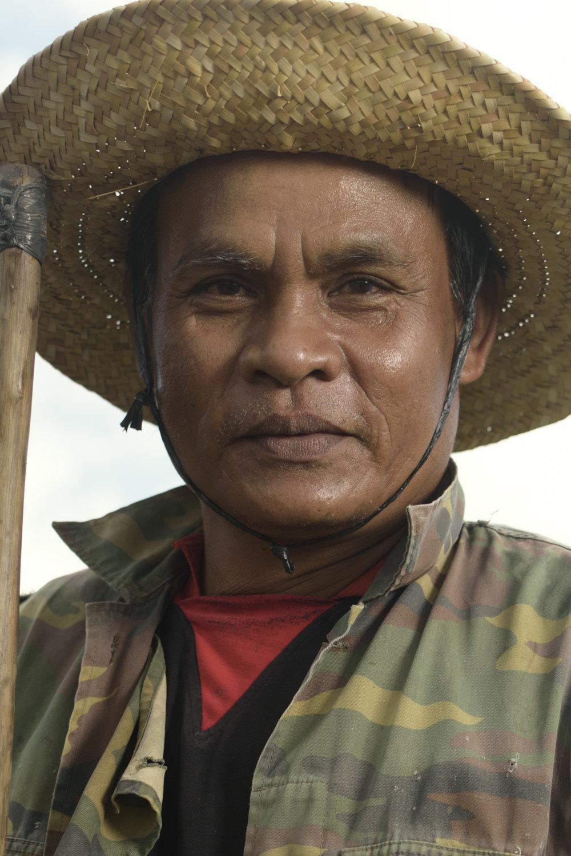 Portrait of a rice farmer from the Tabanan regency of Bali.