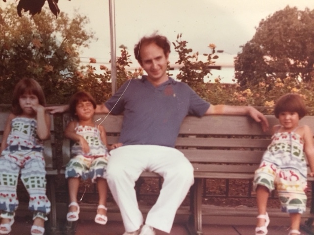 This is Ira with his 3 daughters from Magda's first marriage.He went from a bachelor at 39 living in a condo to a father of 5 living in a house in 2 years.