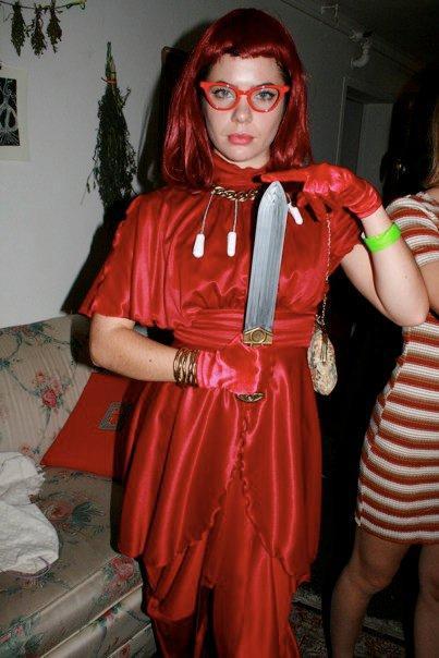 Girl dressed as Aunt Flow..jpg