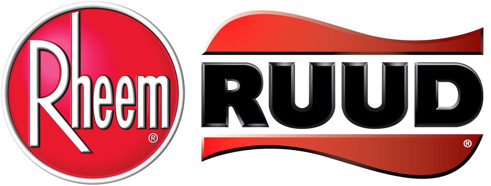 Rheem logo, Ruud logo