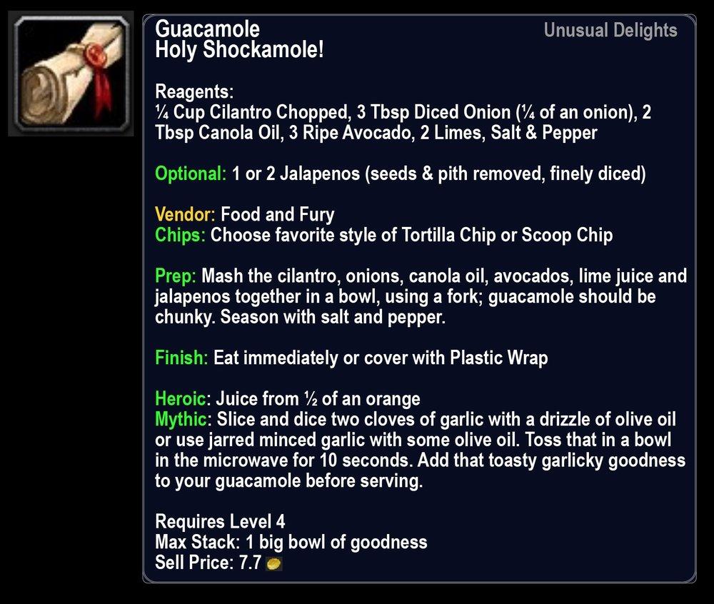 Holy Shockamole Recipe