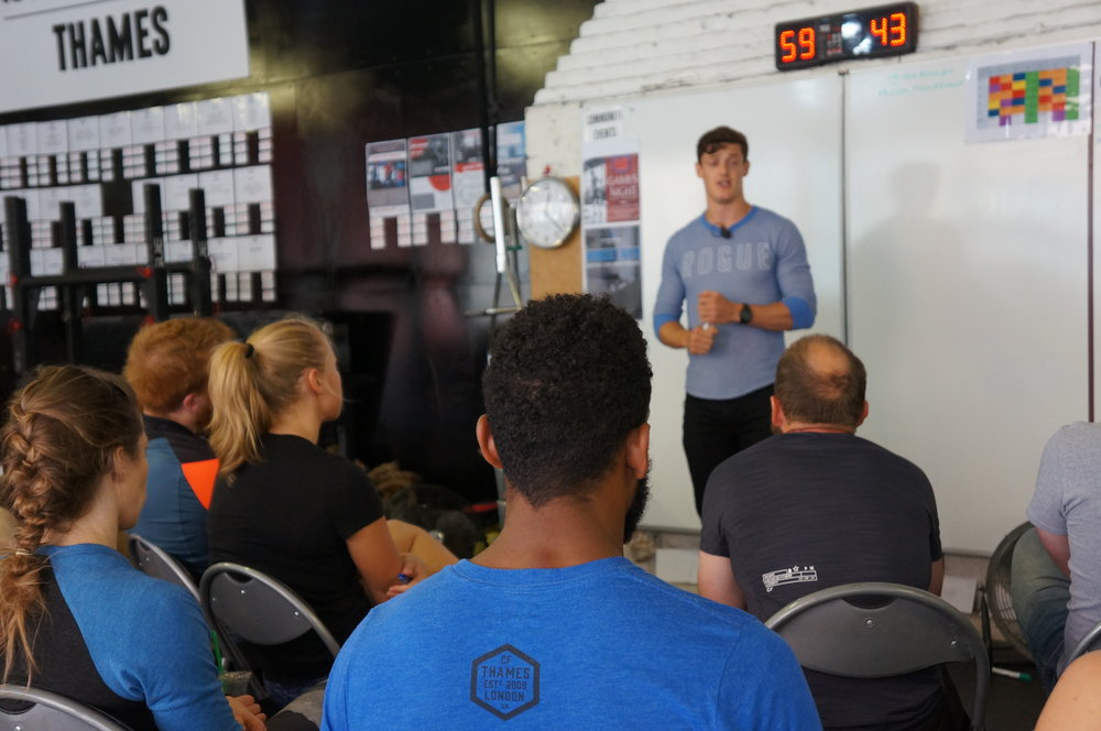 Another Seminar At Reebok CrossFit Thames Praising The Benefits Of Being A Bit More Boring