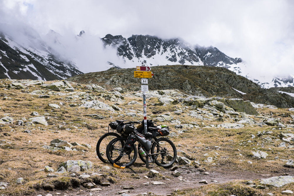 Top of the amazing pass of Val Viola.