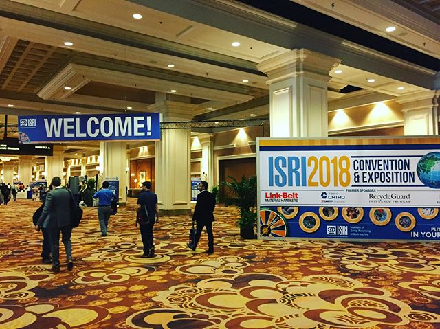 Making it happen at #isri2018! And how cool is it that the recycling industry gives back? Check out the #RFF silent auction! Recycle...what comes around goes around. Come talk to us at booth 746. We protect your business you you can keep the (re)cycle going! #insurance #vegas @bbsocalinsures @isrinews