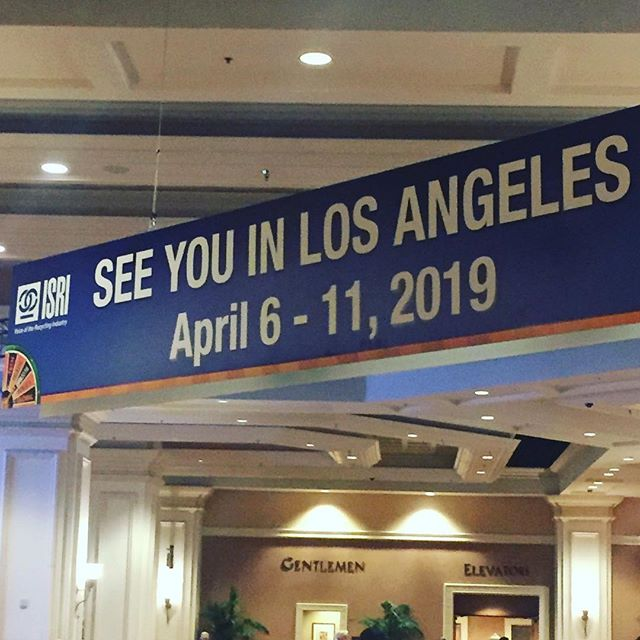 Thanks @isrinews for a great show! See you next year in our neck of the woods! @bbsocalinsures #isri2018 #recycle #insurance #wecanhelpwiththat