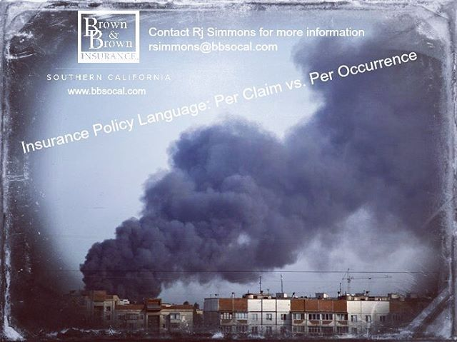 Insurance Policy Language: Per Claim vs. Per Occurrence...Did you know that how your insurance policy is written can create a fine line as to how your policy responds when a claim occurs? Our latest blog explains: https://www.bbsocal.com/insurance-policy-language-per-claim-vs-per-occurrence
