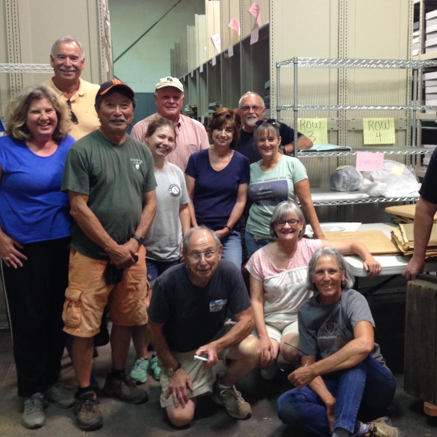 volunteers and Holly at Collections.jpg