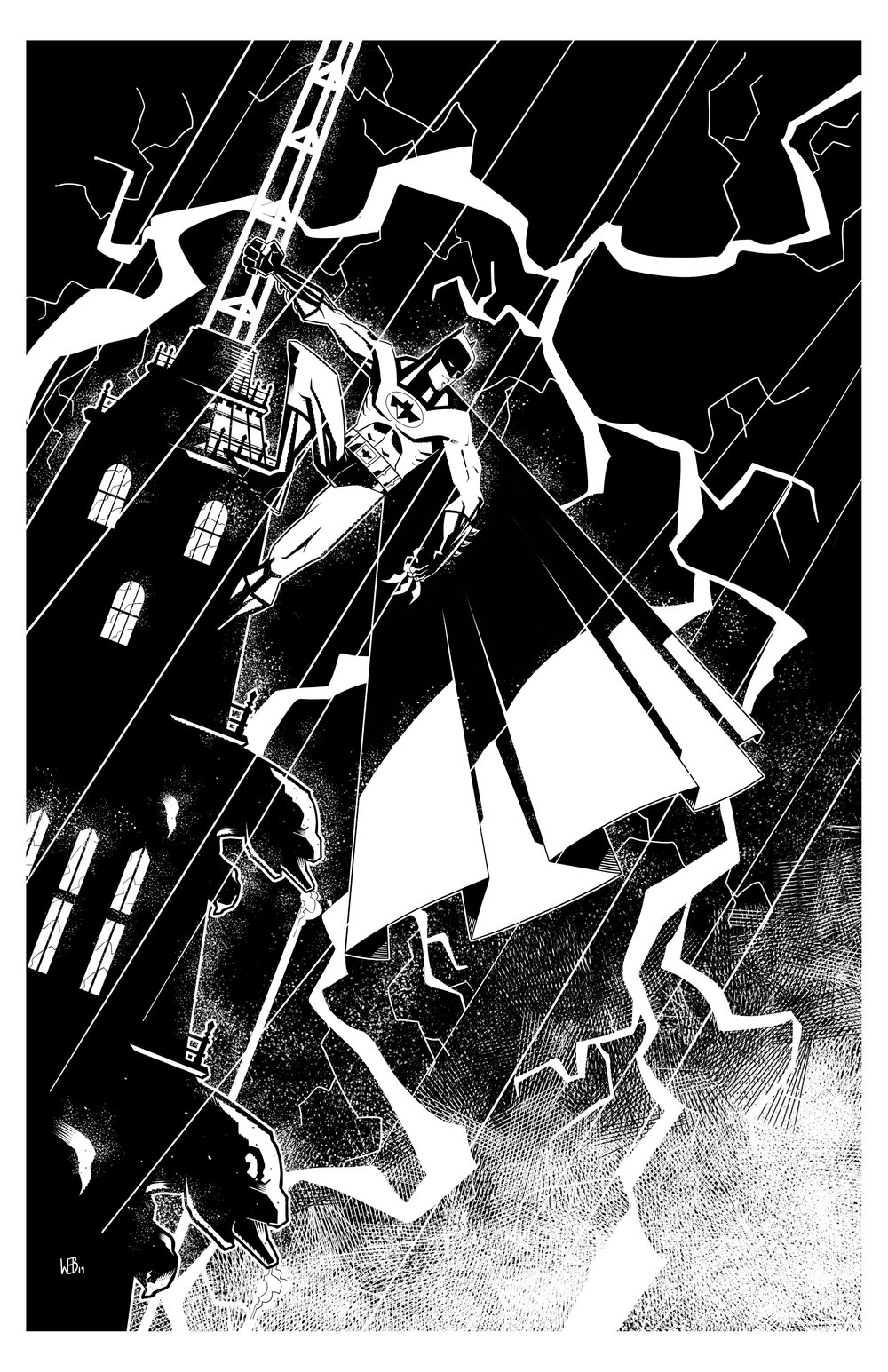 First time drawing Batman. Looks a little too digital. Pitfalls of working on a Wacom. sigh.