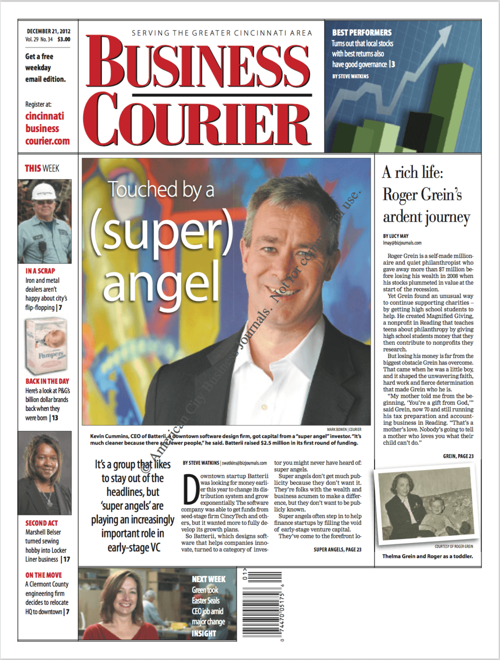 Cincinnati Business Courier  December 2012