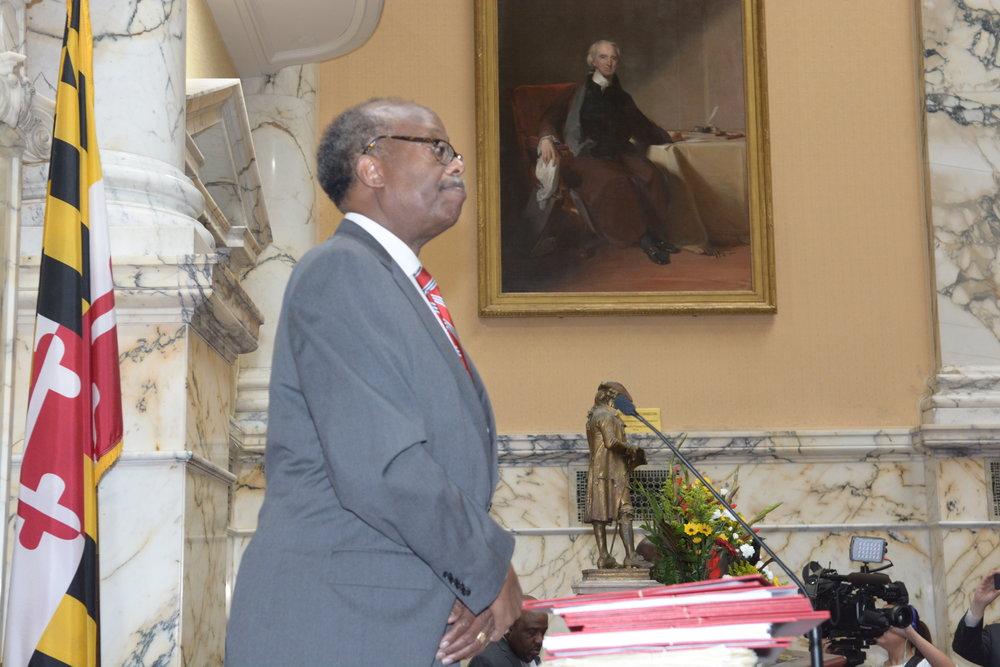Senator McFadden Presiding over the Senate