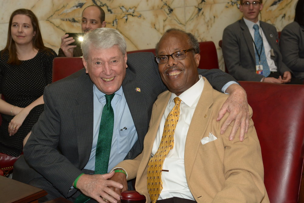 Senator McFadden with Speaker Busch