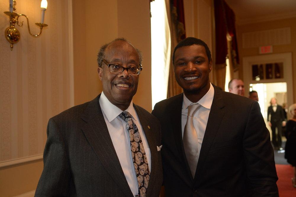 Senator McFadden and Adam Jones