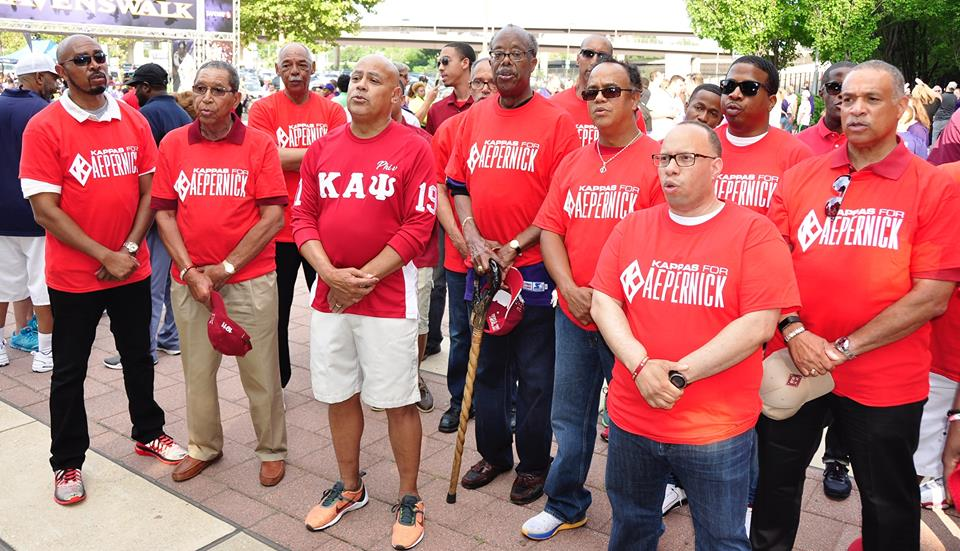 Senator McFadden, the  NAACP  and  The Baltimore (MD) Alumni Chapter of Kappa Alpha Psi Fraternity, Inc.  stand with  Colin Kaepernick  against injustice!