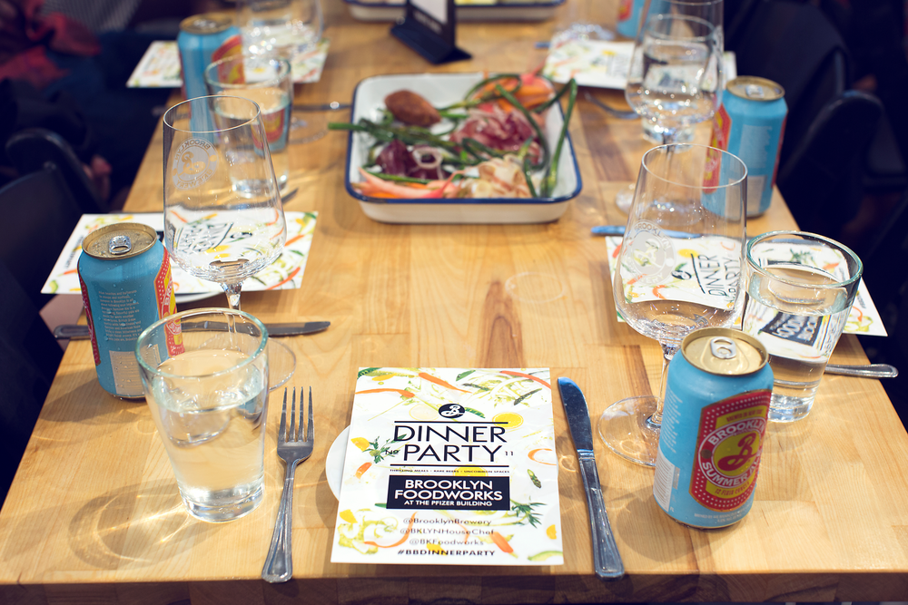 Dinner Party menu designed by Knockout! Studio
