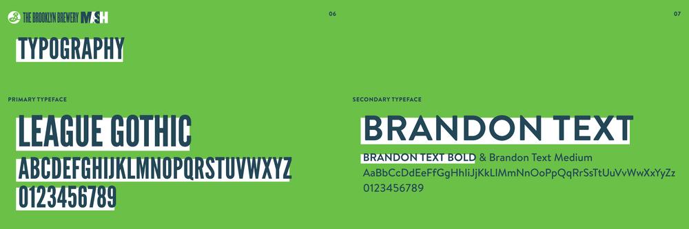 Brooklyn Brewery Mash typography