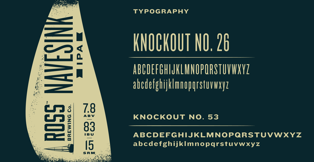 Ross Brewing Co. typography by Knockout! Studio