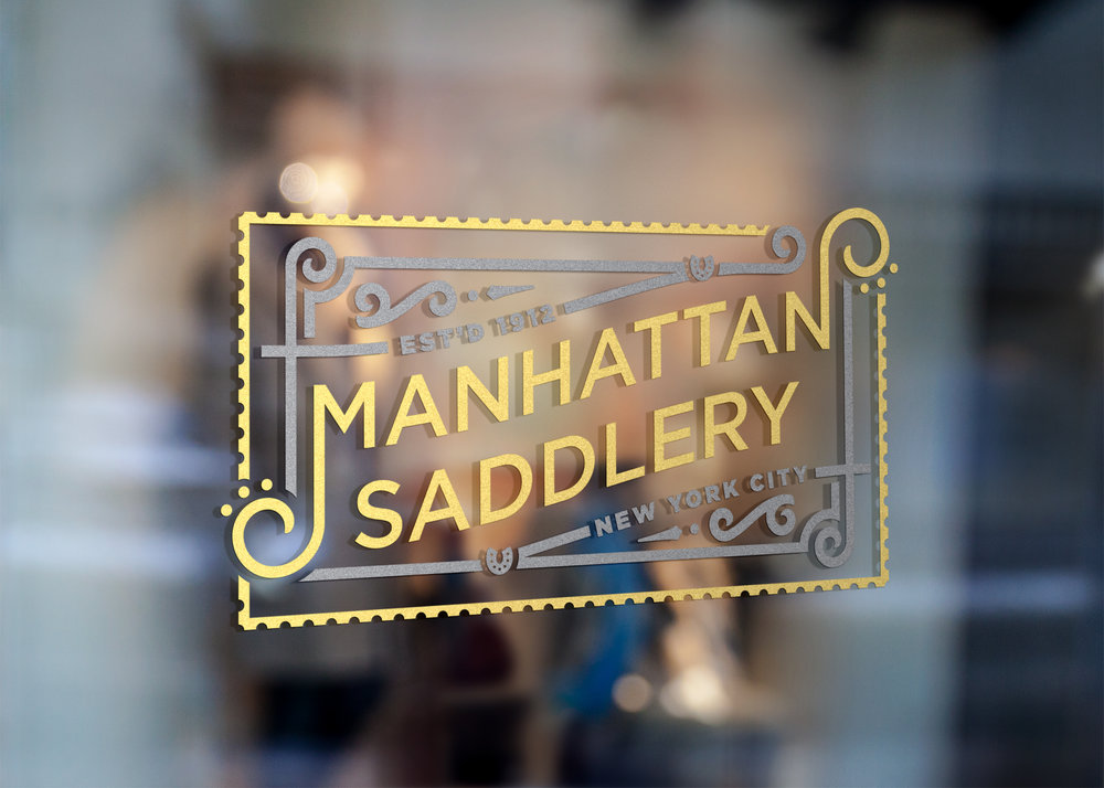 Gilded Manhattan Saddlery logo by Knockout! Studio