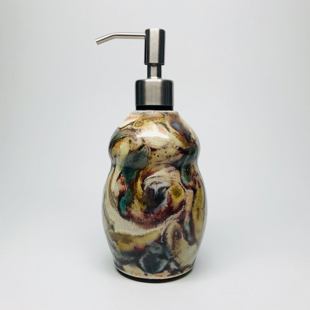 CLAYBIRD POTTERY STUDIO soap lotion dispenser bottle.jpg