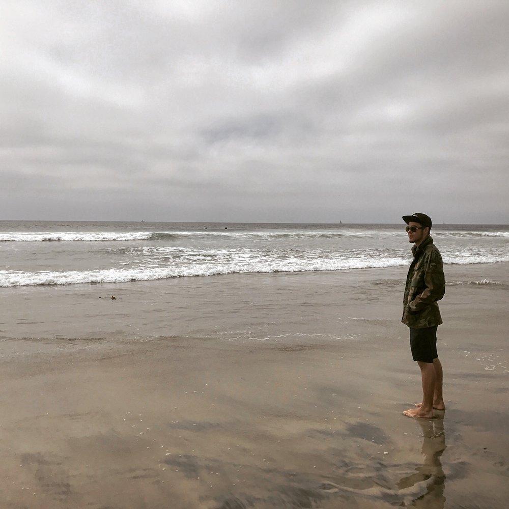 On the beach in Oceanside, CA