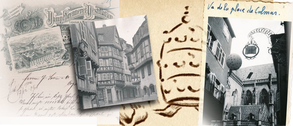 Images of Colmar, the home of Wolfberger distillery