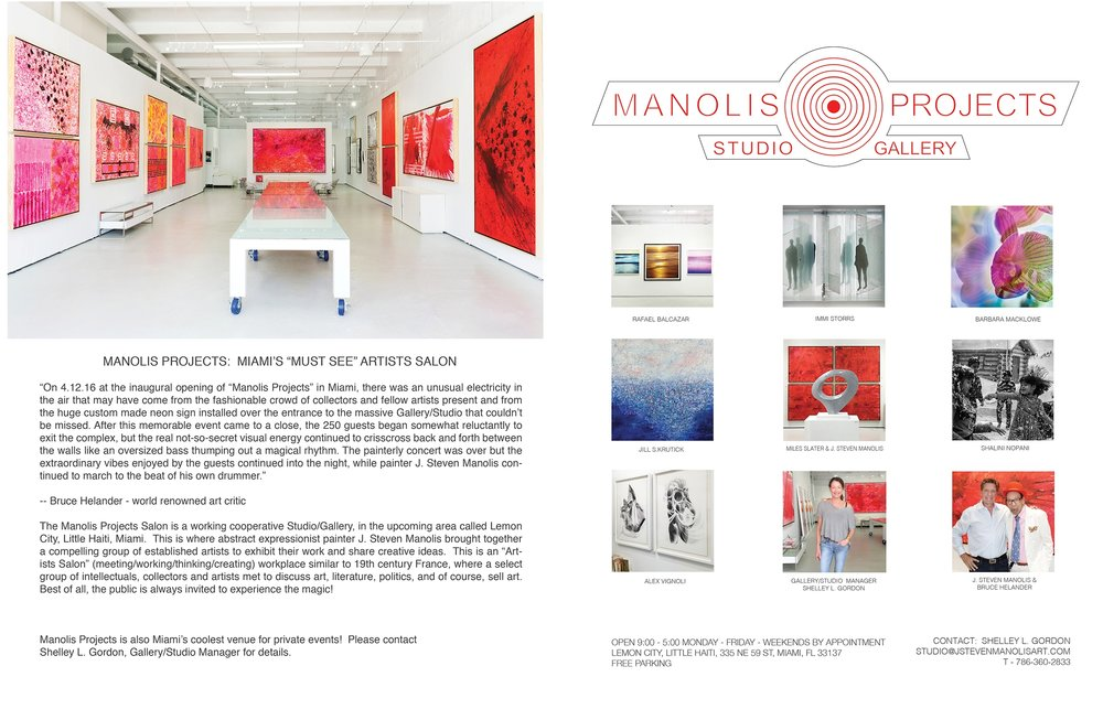 Invitation to Manolis Projects Art Basel Salon Exhibition.