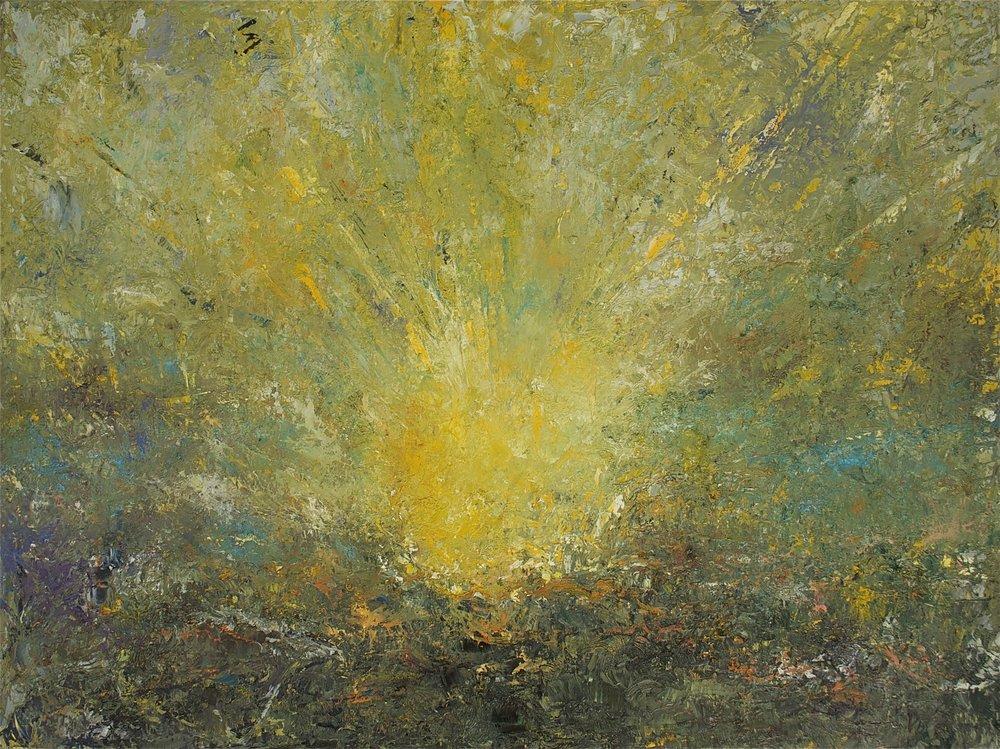 Jill S. Krutick, ENERGY, 2014 Oil on canvas, 30 x 40 inches (76.2 x 101.6 cm).