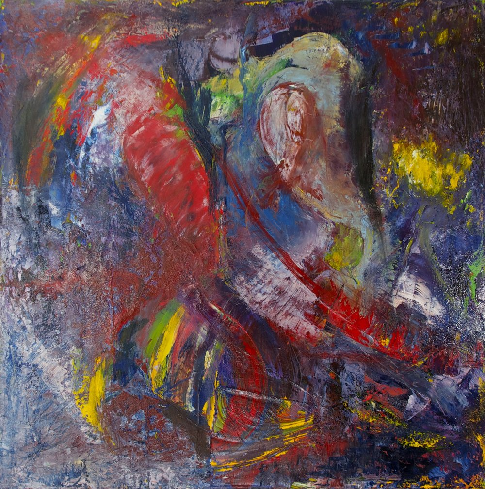 JAZZ IMPRESSION, 2013  Oil on canvas, 36 x 36 inches (91.4 x 91.4 cm).