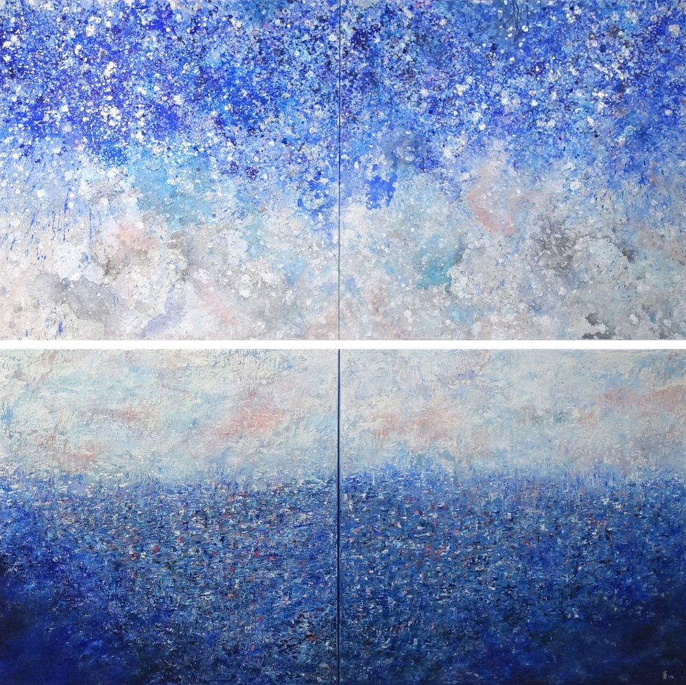 Dreamscape Diptych Oil/Acrylic, 2016
