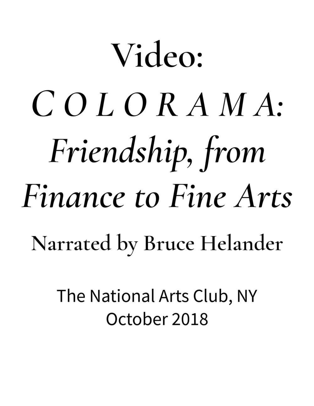 The National Arts Club | C O L O R A M A