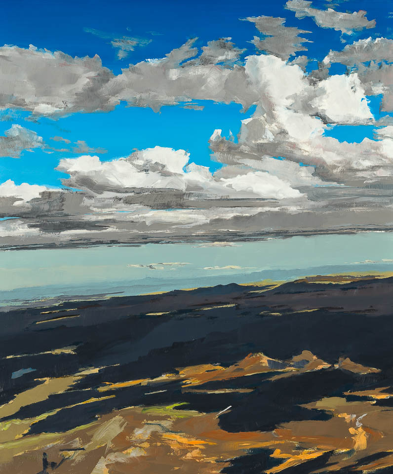 """<i>Cloud 5 ABQ</i> <br> 36 x 30"""", Oil on Linen"""