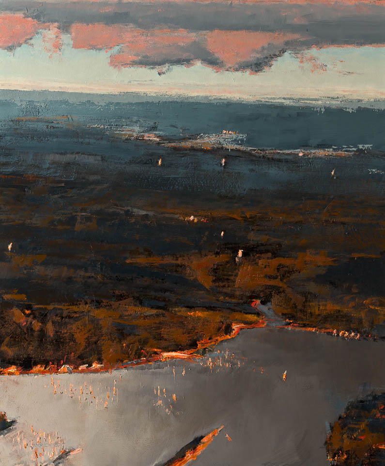 "Cloud 9 JFK  36 x 30"", Oil on Linen"