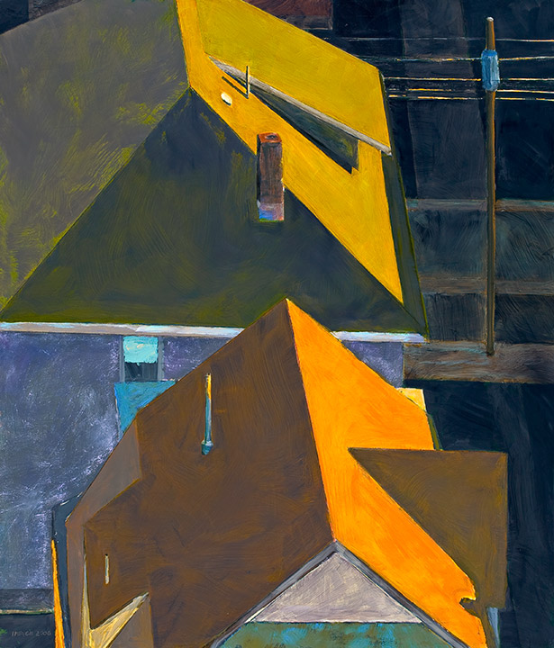 "<i>Somerville 9</i> <br> 42 x 36"", Oil on Linen"