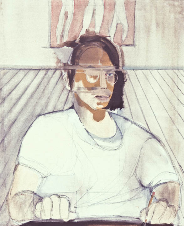 """<i>Self Portrait 1970</i> <br> 22 x 30"""", Oil on Canvas"""