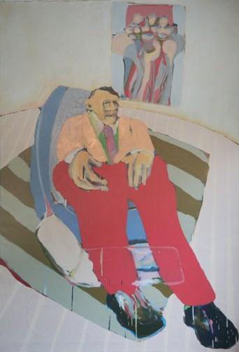 """Power Man 1  36 x 44"""", Oil on Canvas"""